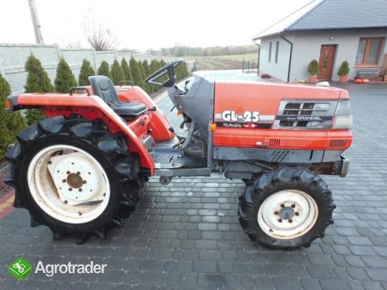 Kubota GL 25   25KM 4x4 wspomaganie rewers mini traktor iseki yanmar   - zdjęcie 2