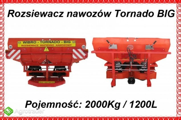 Rozsiewacz nawozów Tornado BIG 1200/2000