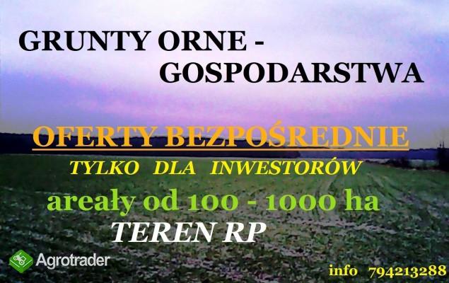 Grunty orne - gospodarstwa do 1000 ha i większe