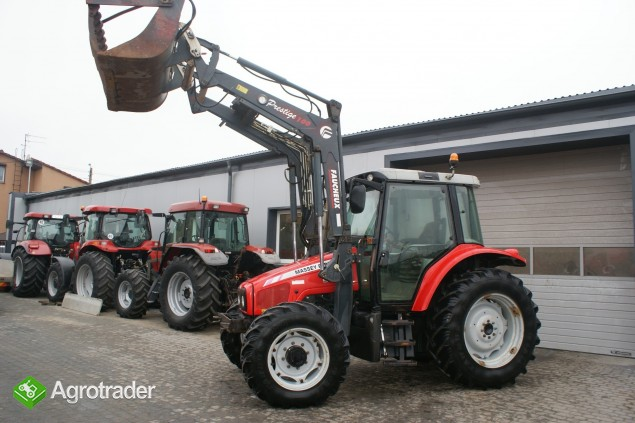 Ciągniki rolnicze MASSEY FERGUSON 5455+ŁADOWACZ FAUCHEUX Renault  - zdjęcie 7