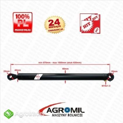 Cylinder hydrauliczny CN 40/630 L:870 skok 630 1-str działania - zdjęcie 1