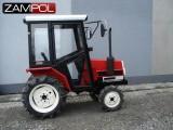 traktorek Yanmar F16 z kabiną i pługiem do śniegu