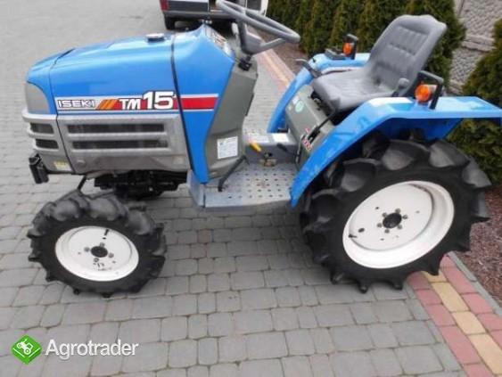Iseki TM15 15KM 4x4 mini traktor traktorek ładowarka Kubota Yanmar  - zdjęcie 4