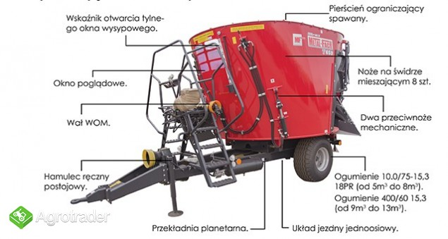 Wóz paszowy, paszowóz METAL- FACH obniżony do niskich obór - zdjęcie 3