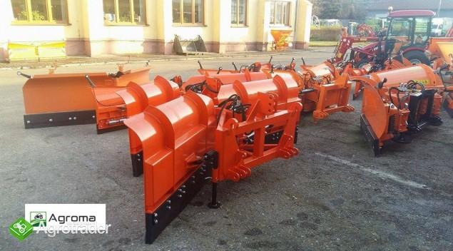 Pług składany do odśnieżania odśnieżarka nowy 2m do śniegu do traktora - zdjęcie 2