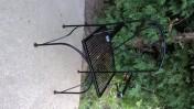 Krzeslo metalowe, ogrodowe, ozdobne.
