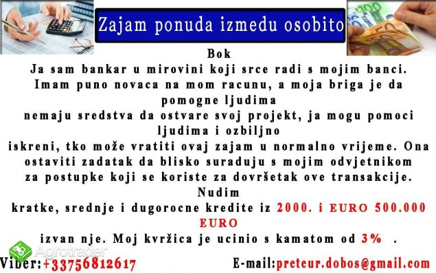 Ja vas s posudbe iz 2000 EURO 700.000 EUR - zdjęcie 1