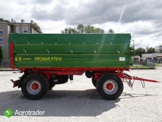 Przyczepa rolnicza 10 t paletowa PRONAR PT610 - zdjęcie 1