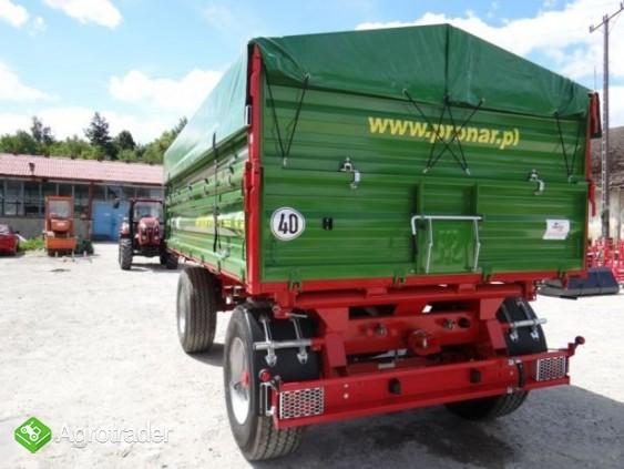 Przyczepa rolnicza 8 t paletowa PRONAR PT608 od ręki wyprzedaż - zdjęcie 3
