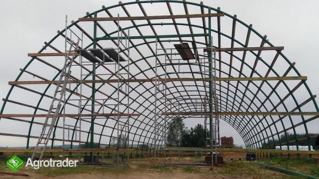 Hala Łukowa Tunelowa Magazynowa Hangar Warsztat 12 x 20 Rolnicza  - zdjęcie 3