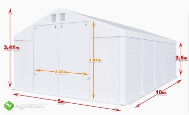Całoroczna Hala namiotowa 5×10×2,5/3,41m