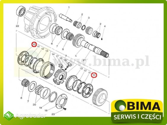 Nakładka koła rewers synchronizator Massey Ferguson 6270 - zdjęcie 1
