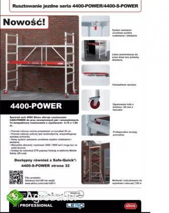 RUSZTOWANIE JEZDNE ALUMINIOWE K2 4400-POWER ALTREX - zdjęcie 2