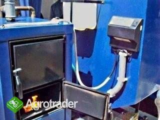 Kocioł CO na brykiet, pellet,zrębki,trociny,owies,ekogroszek,wierzbę e - zdjęcie 1