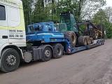 Transport maszyn ciagnikow koparek ładowarek