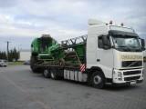 Claas, inne Transport kombajnów zbożowych